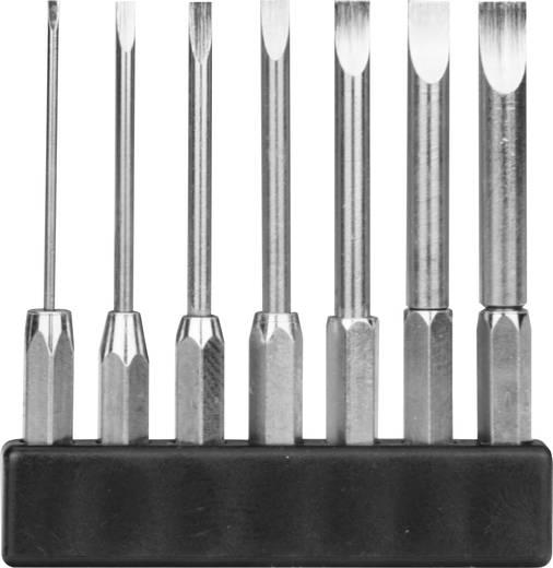 7 részes mini bit szortiment, egyenes pengéjű hosszú kivitel, 1-4 mm/45 mm, Donau MBS70