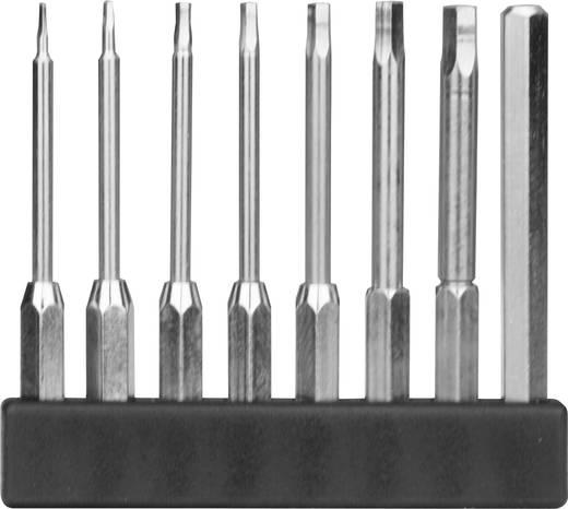 8 részes mini bit szortiment, hatlapú hosszú kivitel, 45 mm, Donau MBS73