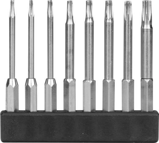 8 részes mini bit szortiment, T-profil hosszú kivitel, 45 mm, Donau MBS77