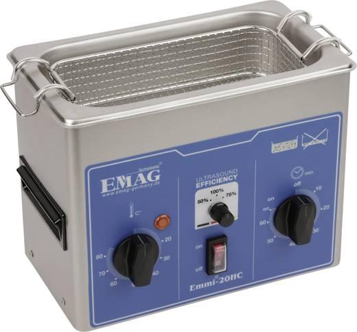 Ultrahangos tisztító 2 l, 150 W, 20 - 80 °C, 230 x 118 x 80 mm, rozsdamentes acél, Emag EMMI 20HC