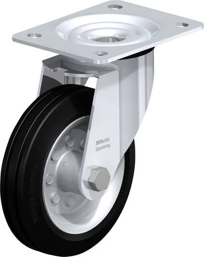 Gumi kerék, acéllemez forgóvillás, 150MM,felfogótalppal UBP