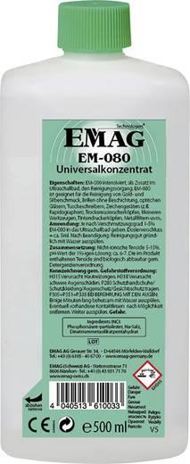 Ékszertisztító folyadék aranyhoz, ékszerhez, CD/DVD-hez 0,5l ultrahangos tisztítóba Emag EM080
