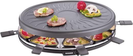Raclette sütő, raclette grill, 8 serpenyővel, manuális hőmérséklet beállítással, fekete, Severin RG2681
