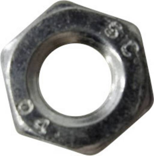 Toolcraft hatlapfejű anya, horganyzott acél, M3, DIN 439, 100 db