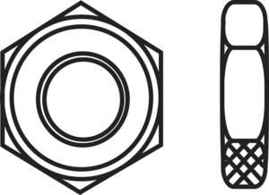 Toolcraft hatlapfejű anya, horganyzott acél, M4, DIN 439, 100 db TOOLCRAFT