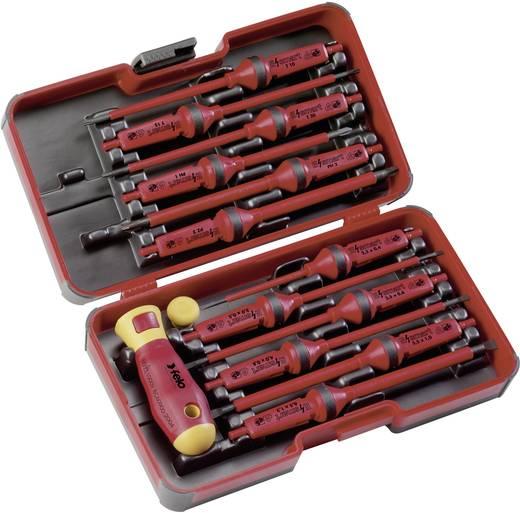VDE szigetelt csavarhúzó készlet, cserélhető szárú PH, PZ, Torx és lapos csavarhúzókkal, 13 részes Felo 06391306