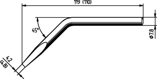 Ersa pákahegy, forrasztóhegy 082 JD ferde, hajlított, véső forma 4.8 mm