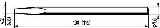 Ersa 032 pákahegy, forrasztóhegy, ferde, hajlított, véső forma 4,8 mm, 0082KD