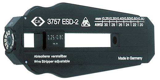 Drót csupaszoló Alkalmas PVD drótok, PTFE drótok 0.25 - 0.8 mm C.K. T3757ESD 2