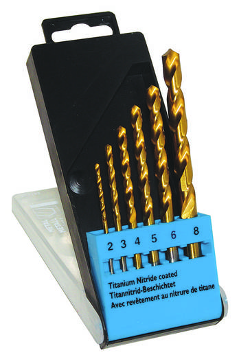 HSS Fém spirálfúró készlet 6 részes C.K. T3293 TiN DIN 338 Henger szár 1 készlet