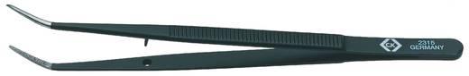 C.K. Univerzális csipesz 150mm 6 enyhén lekerekített heggyel, 15mm hosszan behajlítva, fekete bevonattal T2315