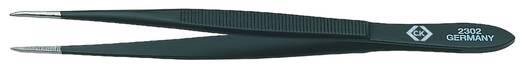 C.K. Univerzális csipesz 115mm 4.1/2 lekerekített hegyekkel, fekete bevonattal T2302