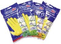 Latex kesztyű, szerelő kesztyű, védőkesztyű, sárga színű L-es (9) méretű CleanGo 1460 (1460) L+D CleanGo