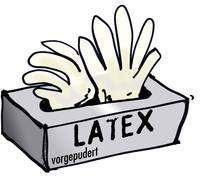 L+D 14699-7 100 db Latex Eldobható kesztyű Méret (kesztyű): 7, S EN 455 L+D