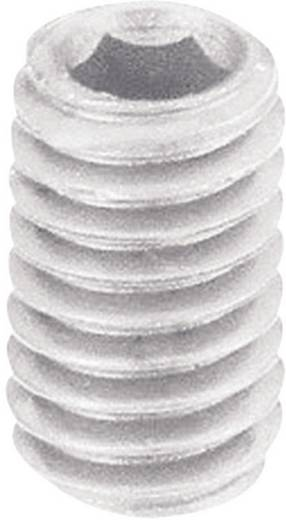 Toolcraft belső kulcsnyílású műanyag hernyócsavar, M5 x 10 mm, DIN 913, 10 db 830378
