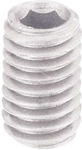 Toolcraft belső kulcsnyílású műanyag hernyócsavar, M6 x 5 mm, DIN 913, 10 db 830379