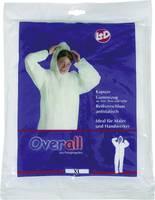 Kapucnis overall, kezeslábas munkaruha, polipropilén védőruha, fehér színű L-es méretű CleanGo 2514 (2514) L+D CleanGo