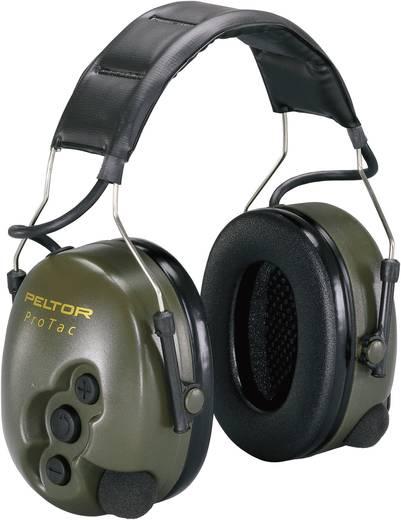 Állítható zajcsökkentésű, szabályozható hangerejű hallásvédő, zajcsillapító fülvédő PELTOR™ Pro Tac II MT15H7A-GN