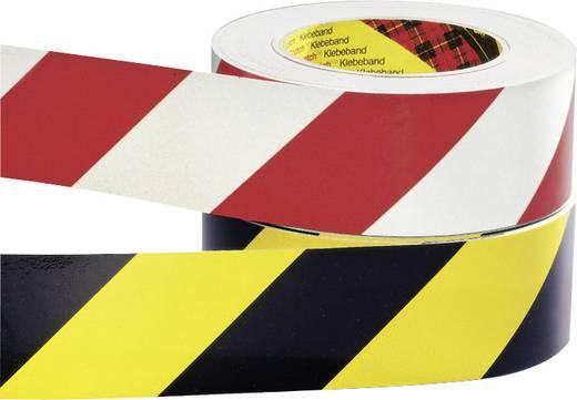Figyelmeztető jelölés, 25M/50 MM, piros/fehér, 2 R.