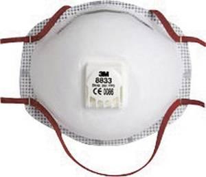 3M 8833 Finom por ellen védő maszk szeleppel FFP3 10 db DIN EN 149:2001 3M