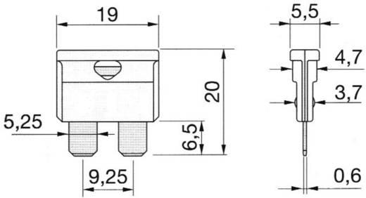 Standard lapos biztosíték 1 A