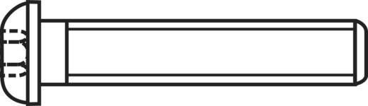 Hengeresfejű hatlapú belsőkulcsnyílású csavarok A2 ISO 7380, M4X8 , 100 részes, Liko 839798
