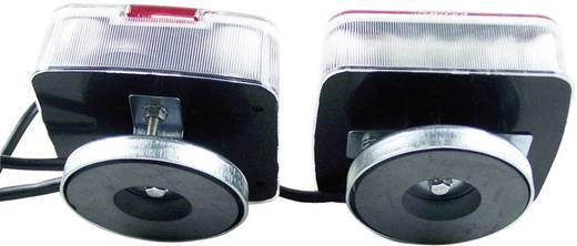 Négyfunkciós LED-es tolatólámpa készlet mágneses rögzítéssel, 13 pólusú dugóval, 12 V, 20189