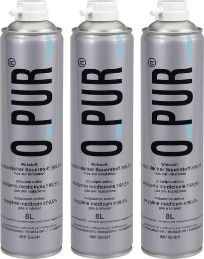 Oxigén inhalációs flakon készlet, 3 db, oPur