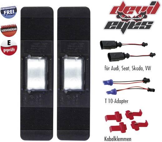 Devil Eyes, LED-es rendszámtábla megvilágítás, univerzális, 2 db LED-del, (H x Sz) 120 mm x 30 mm