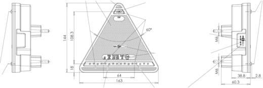 LED-es háromszög alakú utánfutó lámpa, 12/24 V, SecoRüt 95330