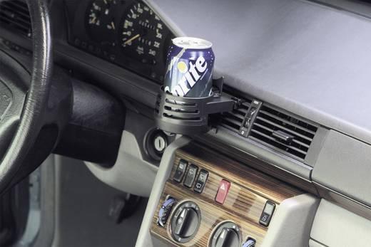 Autós italtartó, szellőzőrácsba illeszthető, (H x Sz x Ma) 185 x 83 x 63 mm, Herbert Richter