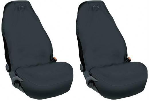 Autóülésvédő huzat, üléskímélő szövet első ülésre, fekete 841681