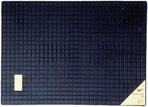 Gumiszőnyeg autóhoz, sejtmintás, 50 cm x 70 cm, fekete, Clip