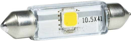 LED-es szoffita izzó, 43 x 10,5 x 9,5 mm, fehér, Philips Vision C5W SV8,5-8, 38343030