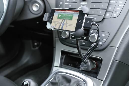 Autós okostelefon tartó USB töltővel 1500mA Ansmann