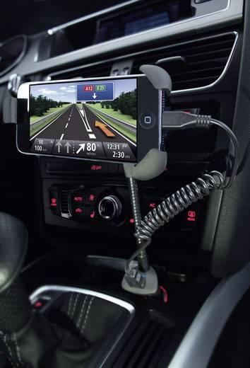 Autós okostelefon tartó, szivargyújtó USB töltővel 1500mA Ansmann 1000-0004