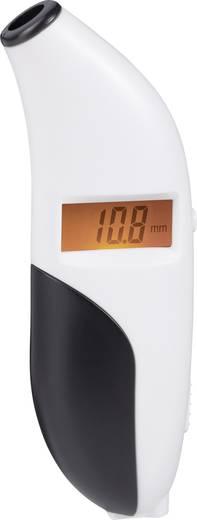Abroncsnyomás és profilmélység mérő, 0,2 - 9,99 bar ill. 3 - 144,9 psi 0 - 15 mm ill. 0 - 0,59 inch, Basetech