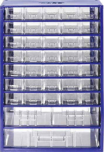 Fiókos alkatrésztároló szekrény, 38 részes fiókkal 307 x 464 x 155 mm 844950