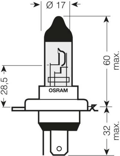 Halogén lámpa OSRAM H4 COOL BLUE