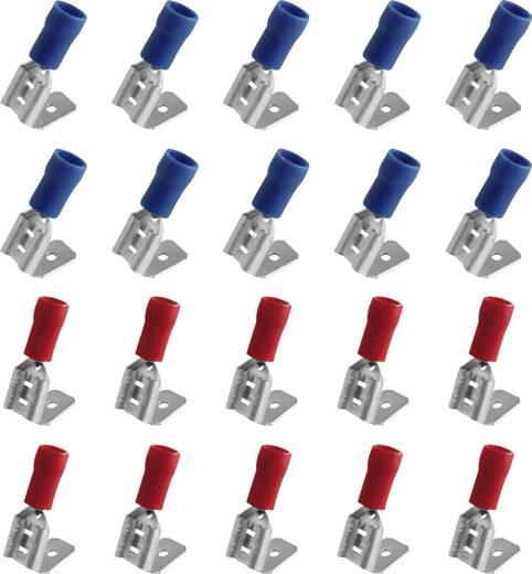 Csúszósaru hüvely készlet, elosztós, 6,3 mm, 0,25-2,5 mm²