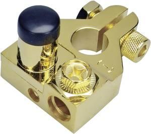 Sinuslive 13482 BKS - Akkumulátor póluscsipesz Mínusz pólus aranyozott 1 db Sinuslive