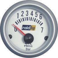 Olajnyomásmérő műszer autóba Raid hp ezüst széria (660219) raid hp
