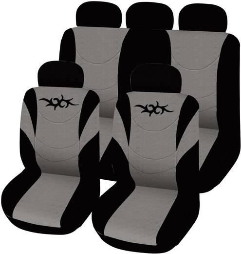 Autó üléshuzat készlet, 11 részes, szürke/fekete, Eufab