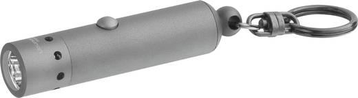 LED-es kulcstartós zseblámpa, 9 óra, 37 g, ezüst, LED LENSER V8 7563-TB