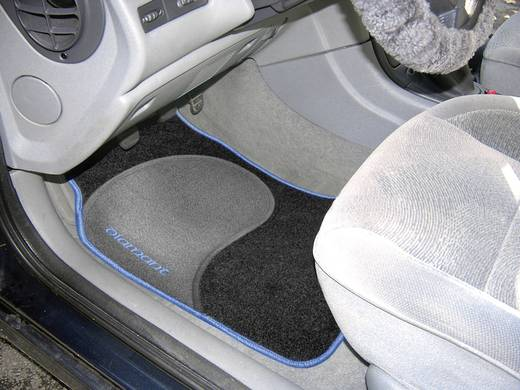 Autós szőnyeg készlet fekete/kék