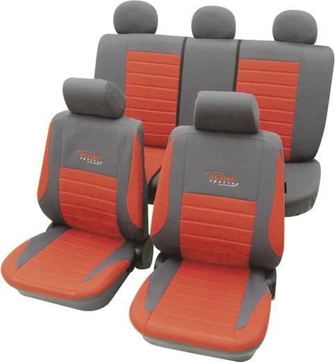 Autó üléshuzat készlet, 11 részes piros