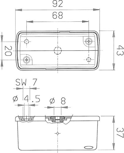 Szélességjelző pótkocsira 12 V, SecoRüt 20238