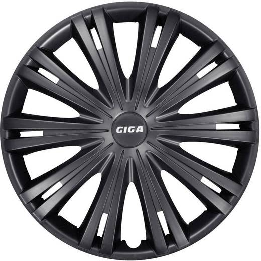 Autó dísztárcsa készlet 4 db, fekete (matt), Giga R15