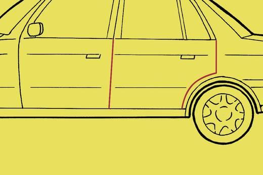 Autó ajtó élvédő dekorcsík, fekete, 512 x 8 x 6 mm, Herbert Richter