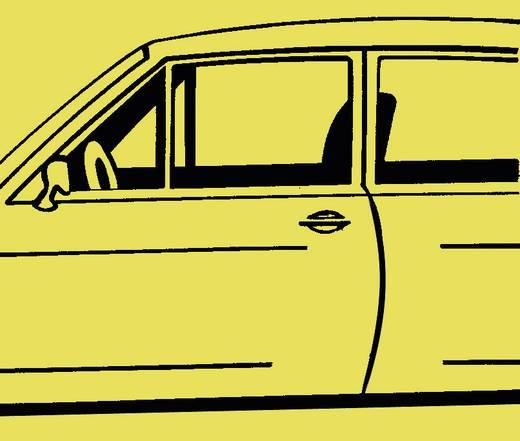Autó ajtó élvédő dekorcsík, króm, 512 x 8 x 6 mm, Herbert Richter